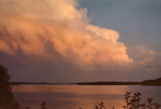 Photo: The view from the Cameron home on Lake Koronis, Paynesville, Minnesota, ca. 1978.