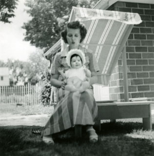 Photo: Marj with daughter, Linda Ann, June 1956.
