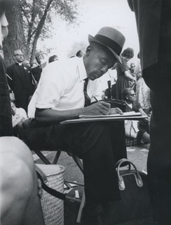 Matthew Little, Chairman of the Minnesota delegation, at the March on Washington, 1963.