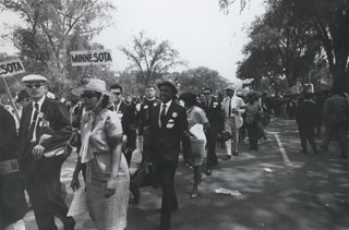 Matthew Little, participating in the March on Washington with the Minnesota delegation, 1963.