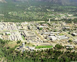 Aerial View of Los Alamos National Laboratory, 1995.