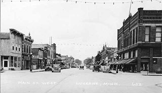 Photo: Main Street West, Luverne, 1925.