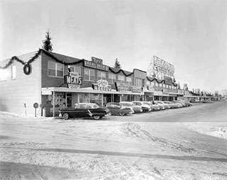 Miracle Mile Shopping Center, Excelsior Boulevard and Highway 100, St. Louis Park, 1955.