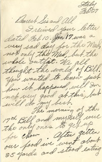 Letter from William L. Anderson to his mother, July 18, 1943.