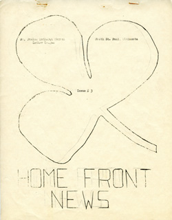 """Home Front News"" newsletter published by the St. Paulus Luthern Church Luther League, 1944-1946."