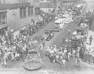 "Parade through downtown St. Paul for ""Minnesota Day"", 1933."