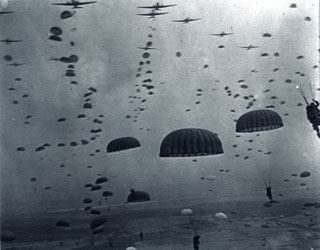 Waves of Paratroops Land in Holland, September 1944.