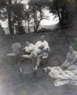 The Day family, enjoying a summer day, late 1940s.