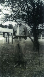 Ray Nagell in camp during military training.