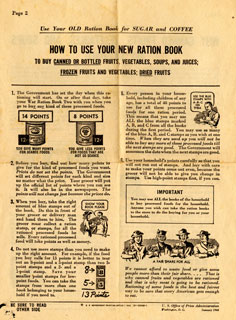 "Document: Information Guide: ""How To Use your New Ration Book"""