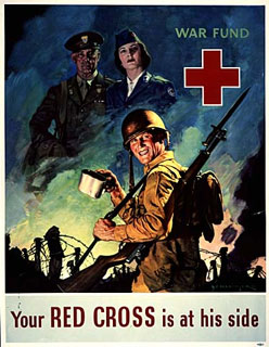 Your RED CROSS is at his side, 1943-1945.
