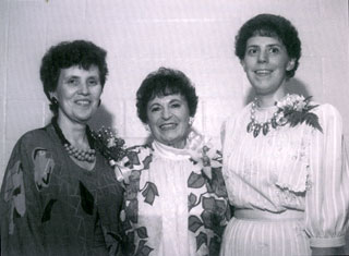 Rose Totino (center) with daughters Joanne Elwell (left) and Bonnie Brenny.