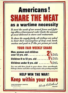 """Americans! Share the Meat"" poster, 1942."