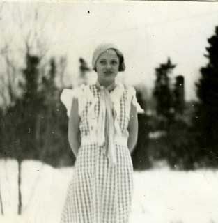Mary Sjoberg, 4-H County Clothing Champion, Cook County, 1933.