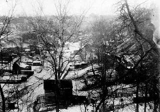 View of Swede Hollow from Seventh Street toward East Minnehaha Street, St. Paul, 1925.