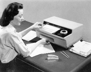 Thermofax duplicating machine, manufactured by 3M, ca. 1960.