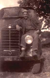 John Buskowiak with his truck, CCC Company 713, Lake City,