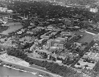Photo: University of Minnesota (aerial view), 1954.