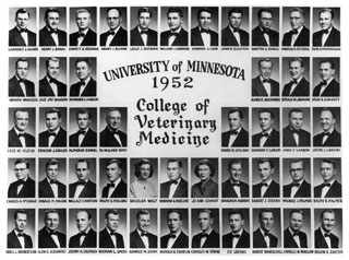 Photo: University of Minnesota Veterinary College Class of 1952.