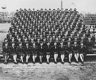 Company 5, 3rd Regiment, First WAC Training Center, Fort Des Moines, Iowa, 1944.