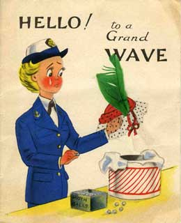 WAVES card, sent to Irene Levin by her niece and nephew, 1944.