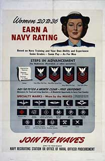 Poster: Women 20 to 36 - Earn a NAVY Rating.