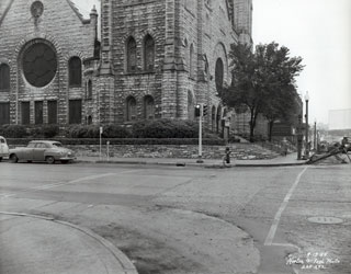 Photo: Westminster Presbyterian Church, Nicollet Avenue at Twelfth, Minneapolis, 1954.