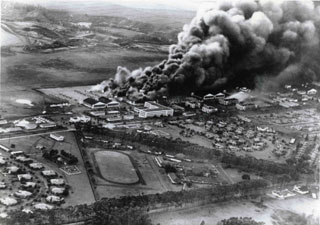 Wheeler Army Air Field, shortly after the attack on Pearl Harbor, December 7, 1941.