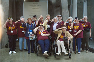 Photo: Minnesota's women veterans enjoyed the visit to the Women in Military Service for America Memorial and Museum.