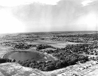 Photo: Aerial view of Richfield near the vicinity of Wood Lake & Penn, 1952.