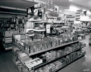 Photo: Hobby department at W.T. Grant Company, Minneapolis, 1957.