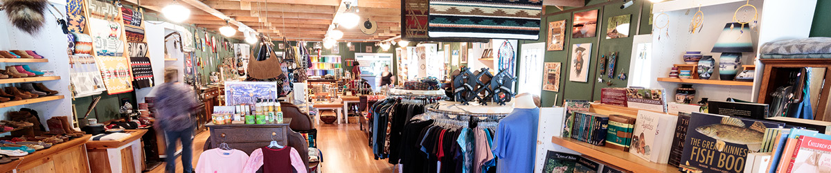 Panoramic view of the Trading Post's interior.