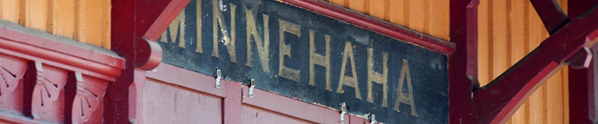 Minnehaha Depot exterior detail.