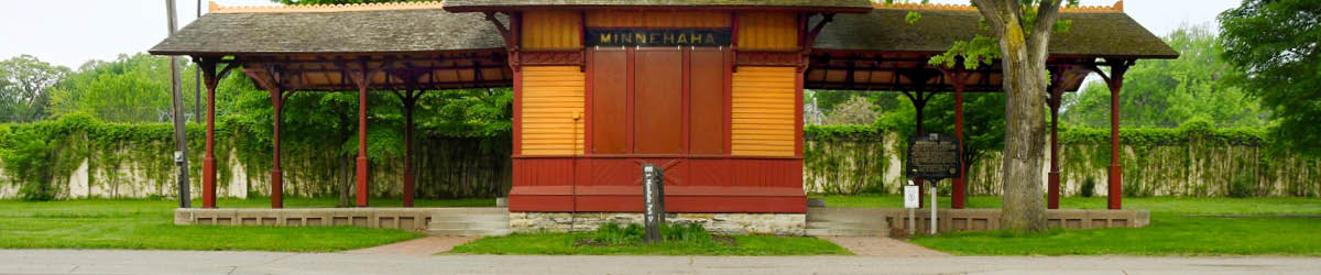 Exterior view of the Minnehaha Depot.