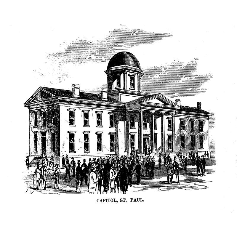 Minnesota State Capitol, 1857.