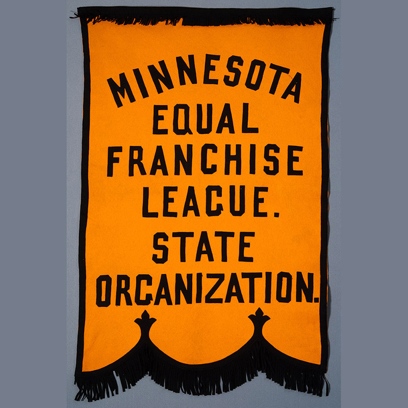 Minnesota Equal Franchise League banner.