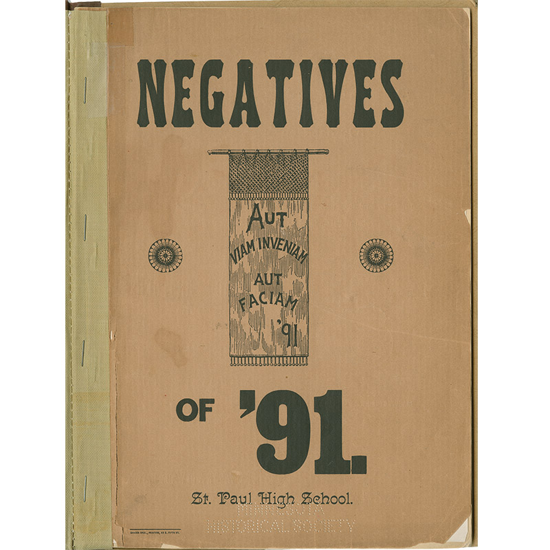 Negatives of '91 yearbook cover.