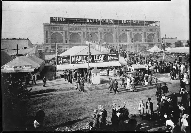 A photo of the Midway at the Minnesota State Fair, ca. 1910
