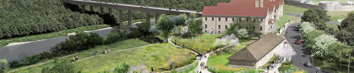 Rendering of Historic Fort Snelling.