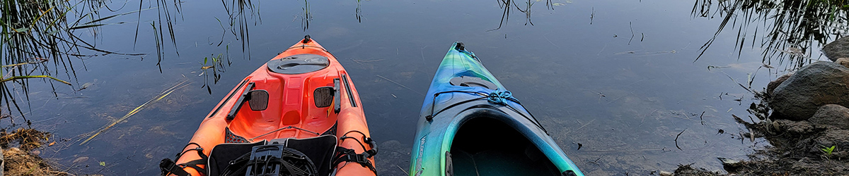 Two kayaks in water.