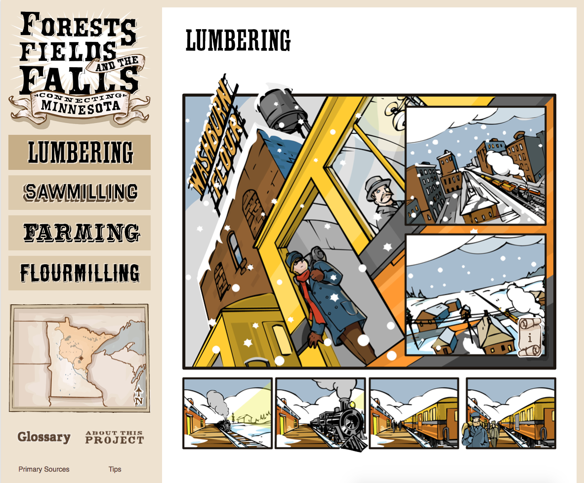 Screenshot of the Forests, Fields and the Falls website