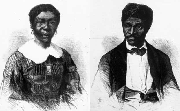 Engravings of Harriet Robinson Scott and Dred Scott that appeared in the June 27, 1857 edition of Frank Leslie's Illustrated Newspaper.