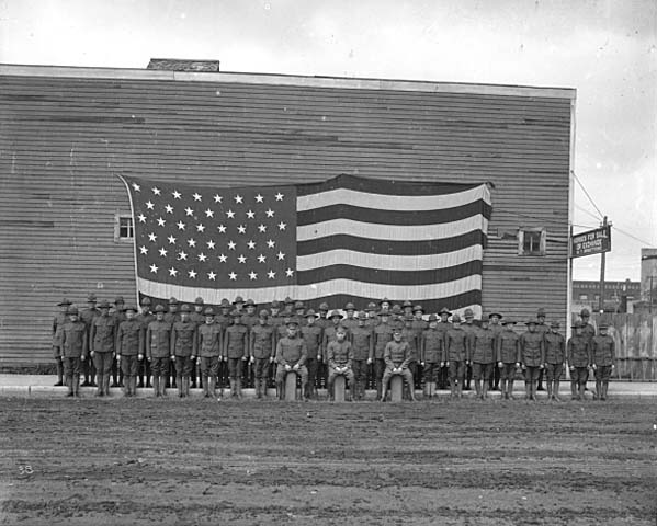 Regiment from Aitkin County, circa 1917