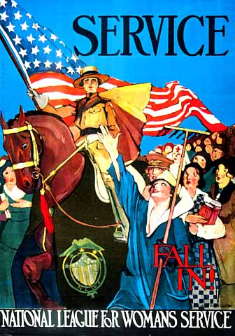 National League for Womans Service poster