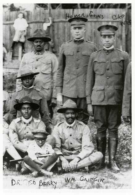 Members of Company A, Sixteenth Battalion of the Minnesota Home Guard, c.1918.
