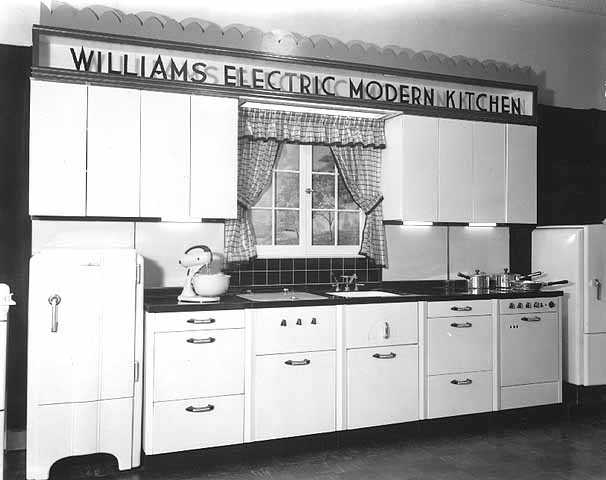 Williams Electric Kitchen model, ca. 1938.