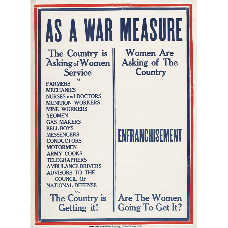 Poster, As a War Measure, 1918.
