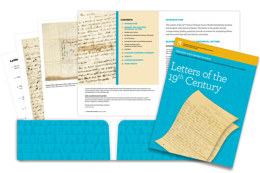 Letters of the 19th Century Primary Source Packet at a glance.