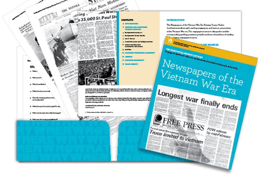 Newspapers of the Vietnam War Era Primary Source Packet at a glance.