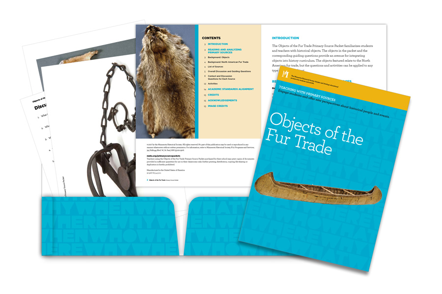 Objects of the Fur Trade Primary Source Packet at a glance.